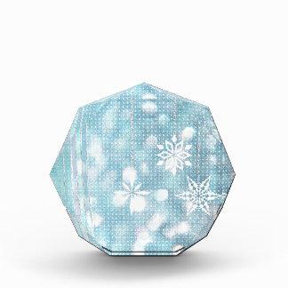Copos de nieve azules en colores pastel