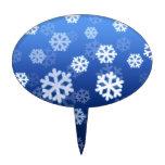 Copos de nieve azules figuras para tartas