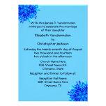Copos de nieve azules invitacion personal