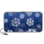 Copos de nieve azules notebook altavoz