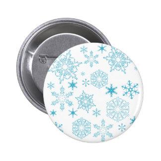 copos de nieve azules pins