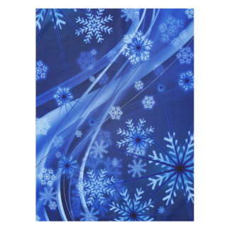 Copos de nieve azules ventosos