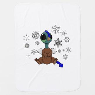 Copos de nieve azules y verdes de Squite (bolsillo Manta De Bebé