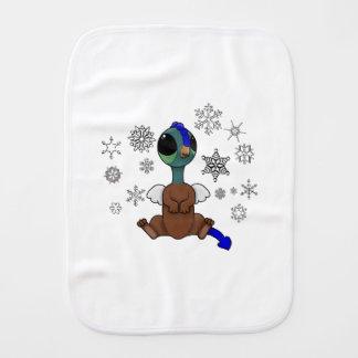 Copos de nieve azules y verdes de Squite (bolsillo Paños De Bebé