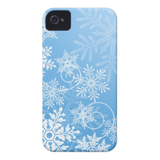 Copos de nieve Barely There iPhone 4 Case-Mate Coberturas
