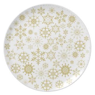 Copos de nieve beige platos de comidas