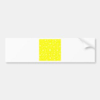 Copos de nieve - blanco en amarillo pegatina de parachoque