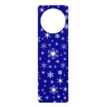 Copos de nieve - blanco en azul marino colgantes para puertas