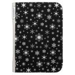 Copos de nieve - blanco en negro