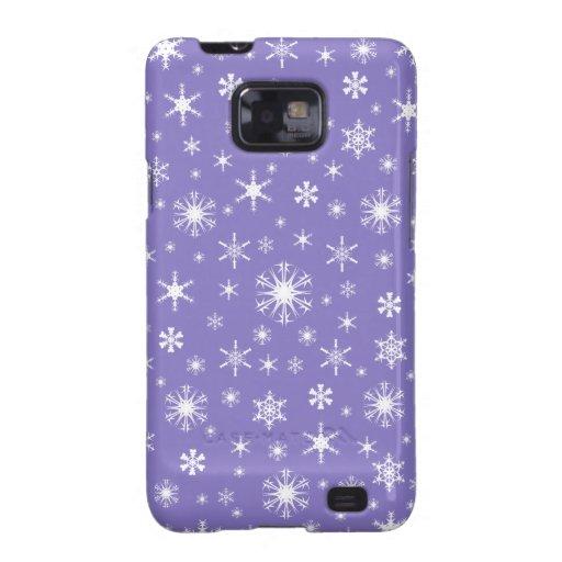 Copos de nieve - blanco en Ube Galaxy S2 Carcasa