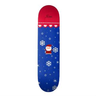 Copos de nieve blancos azules conocidos tabla de skate