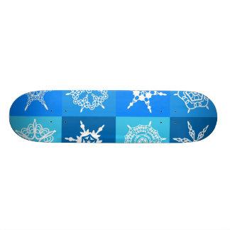 Copos de nieve blancos en cajas azules patines personalizados