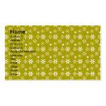 Copos de nieve blancos en el oro tarjetas de visita