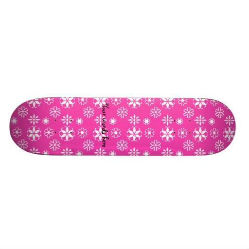 Copos de nieve blancos en rosa patin