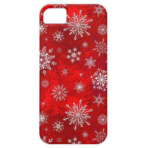 Copos de nieve blancos iPhone 5 carcasas