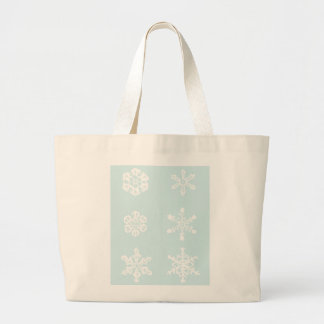 Copos de nieve bolsa tela grande