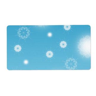 Copos de nieve bonitos etiqueta de envío
