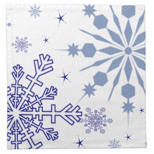 Copos de nieve bonitos servilletas de papel