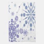 Copos de nieve bonitos toalla