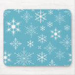 Copos de nieve brillantes Mousepad Tapetes De Ratones
