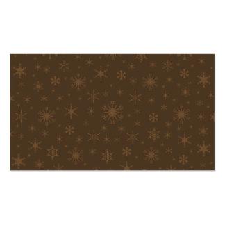 Copos de nieve - Brown en Brown oscuro Plantillas De Tarjetas De Visita