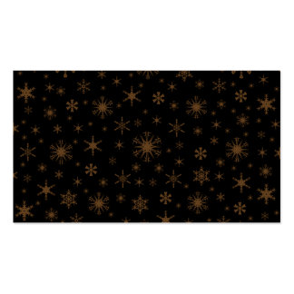 Copos de nieve - Brown oscuro en negro Tarjetas Personales