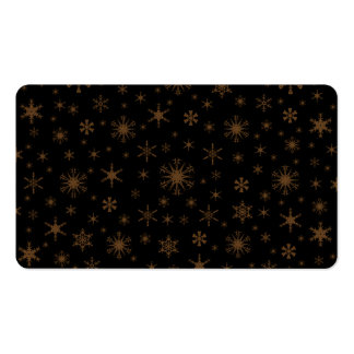 Copos de nieve - Brown oscuro en negro Tarjeta De Visita
