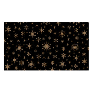 Copos de nieve - Brown pálido en negro Tarjeta De Negocio