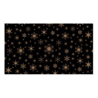 Copos de nieve - Brown pálido en negro Plantillas De Tarjetas Personales