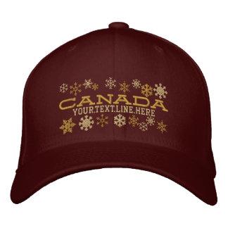 Copos de nieve canadienses personalizados del gorra de beisbol