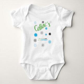 Copos de nieve celiacos body para bebé