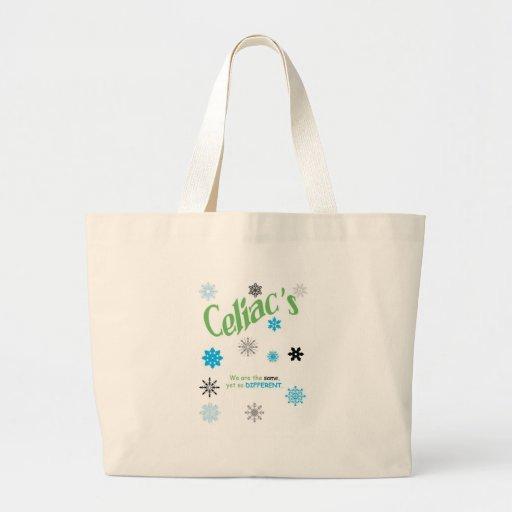 Copos de nieve celiacos bolsa lienzo