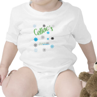 Copos de nieve celiacos traje de bebé