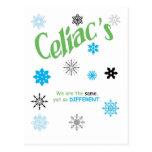 Copos de nieve celiacos postal