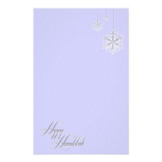 Copos de nieve colgantes (azules) papelería