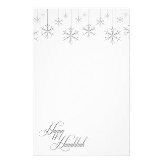 Copos de nieve colgantes (blancos) papelería personalizada