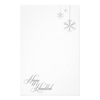 Copos de nieve colgantes (blancos) personalized stationery