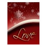 Copos de nieve con amor postal