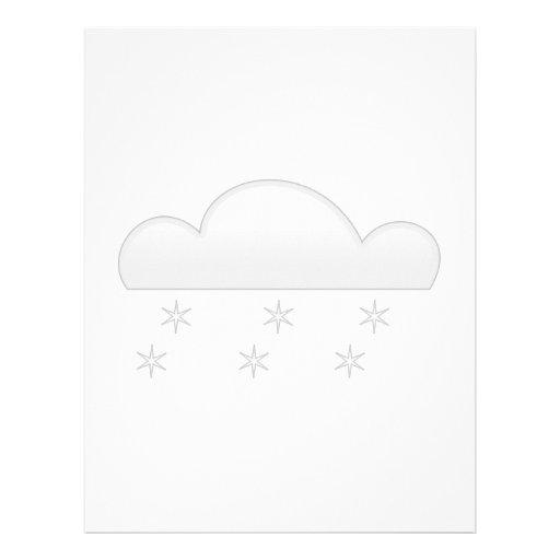 Copos de nieve con la nube membrete personalizado