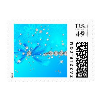 Copos de nieve congelados timbre postal
