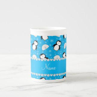 Copos de nieve conocidos de encargo de los iglúes taza de porcelana