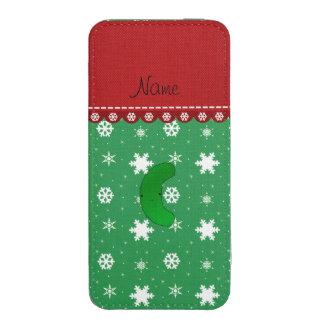 Copos de nieve conocidos del blanco del verde del funda para iPhone 5