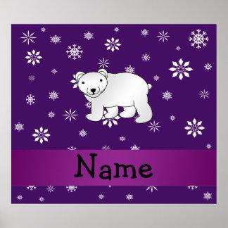 Copos de nieve conocidos personalizados de la púrp póster