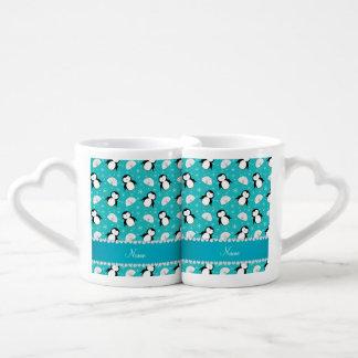 Copos de nieve conocidos personalizados de los tazas para enamorados