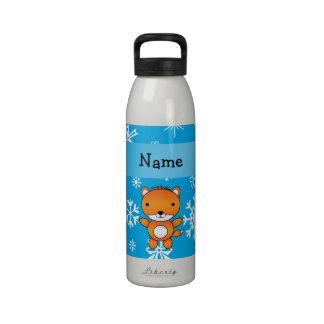 Copos de nieve conocidos personalizados del azul d botella de agua