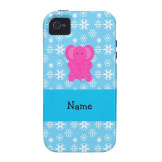 Copos de nieve conocidos personalizados del azul d iPhone 4/4S funda