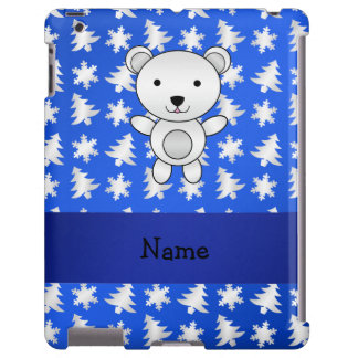 Copos de nieve conocidos personalizados del azul d funda para iPad