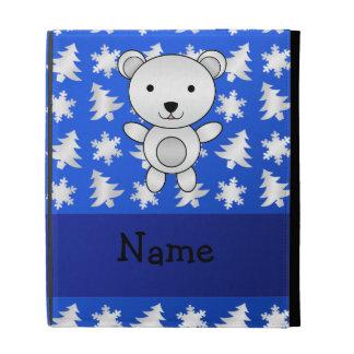 Copos de nieve conocidos personalizados del azul d