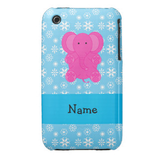 Copos de nieve conocidos personalizados del azul d Case-Mate iPhone 3 protector