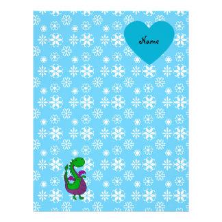 Copos de nieve conocidos personalizados del azul d membrete